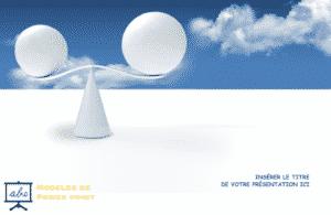 un exemple de modele de power point PPTX avec des spheres equilibrées