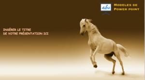 exemple de presentation ppt avec un cheval et nature