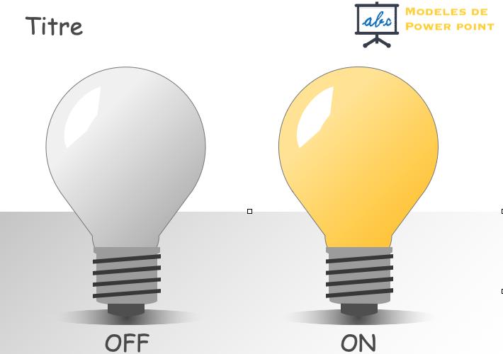 exemple de powrpoint en forme d'ampoules