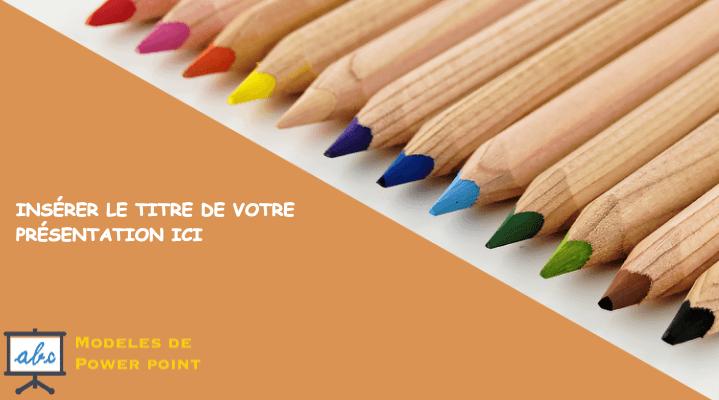 Crayons de couleur en bois - modele ppt