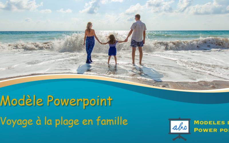 voyage á la plage en famille